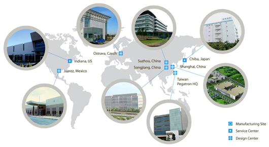 Pegatron global operations