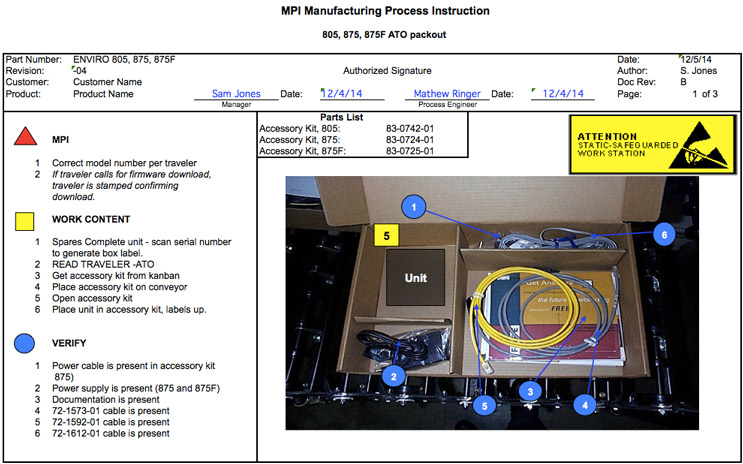 Manufacturing Process Instruction MPI Electronics Services
